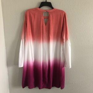 She and Sky Dresses - SHE & SKY ombré colorblock boho dress M